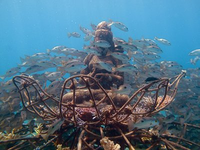 Under the waters in Pemuteran, in Bali, this structure might be helping restore a coral reef.