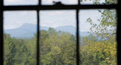 """In 1851, Herman Melville completed his opus, Moby-Dick, in the shadow of Mount Greylock (the view from his study); some see the form of a white whale in the winter contours of the peak--""""like a snow hill in the air,"""" as Melville put it."""