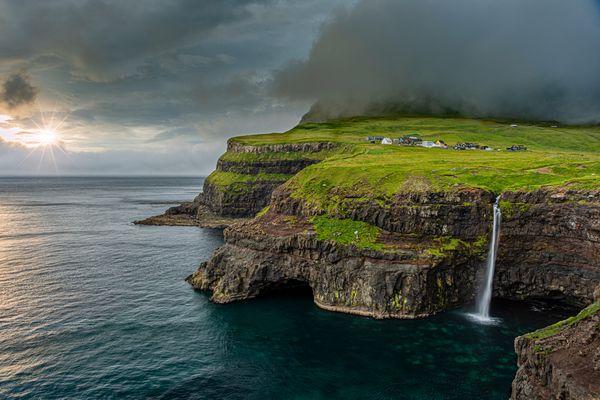 Mulafossur Waterfall, Vagar Island, Faroe Islands. thumbnail