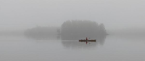 Foggy solo canoe in BWCA thumbnail