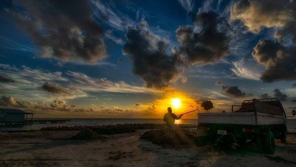 Sunrise Labor on Ambergris Caye thumbnail