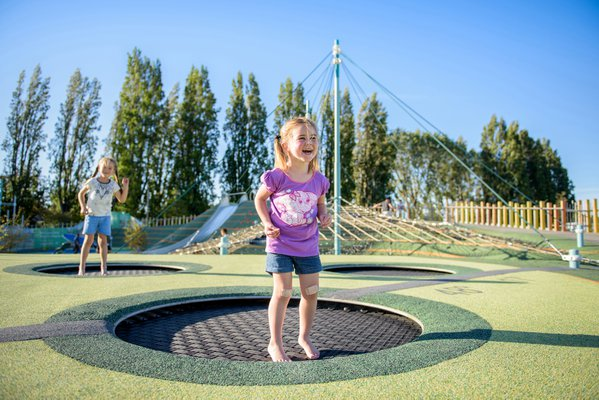 Happy on a trampoline thumbnail