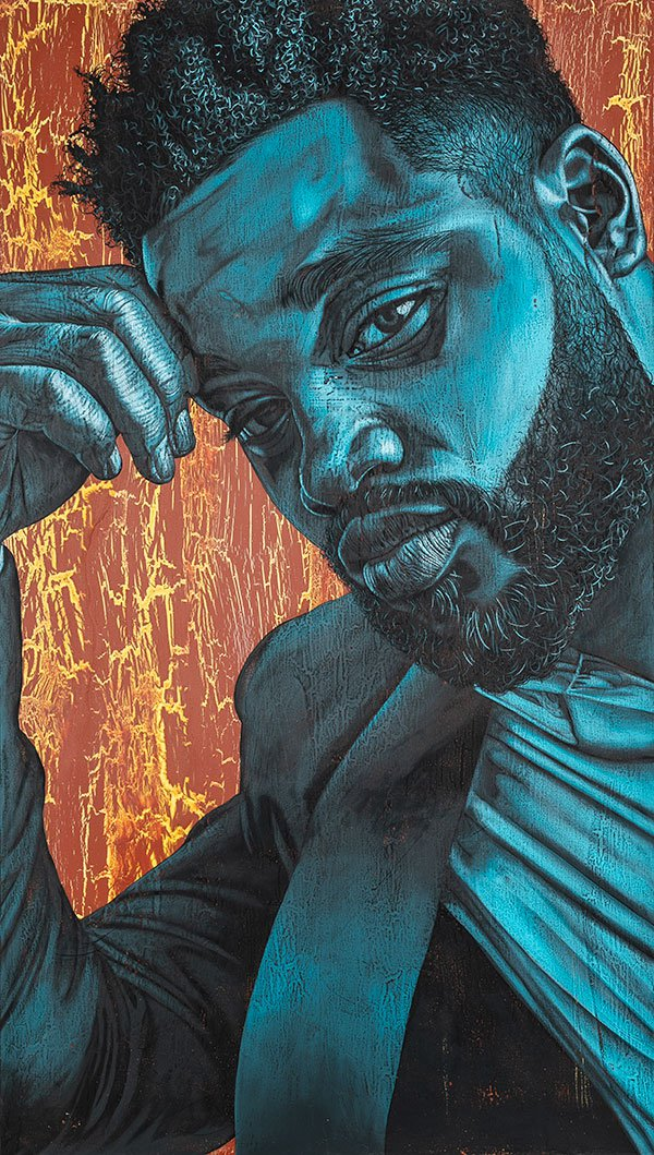<i>Home Team</i> [Ryan Coogler], 2018. Alfred Conteh. Courtesy of artist Alfred Conteh and Amath Gomis.