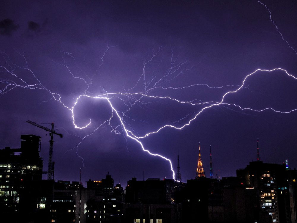 Lightning flashes over Sao Paulo, Brazil in 2014