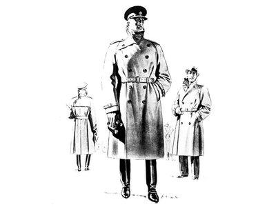 """Aquascutum, stemming from Latin for """"water"""" and """"shield,"""" was a leading trenchcoat manufacturer."""