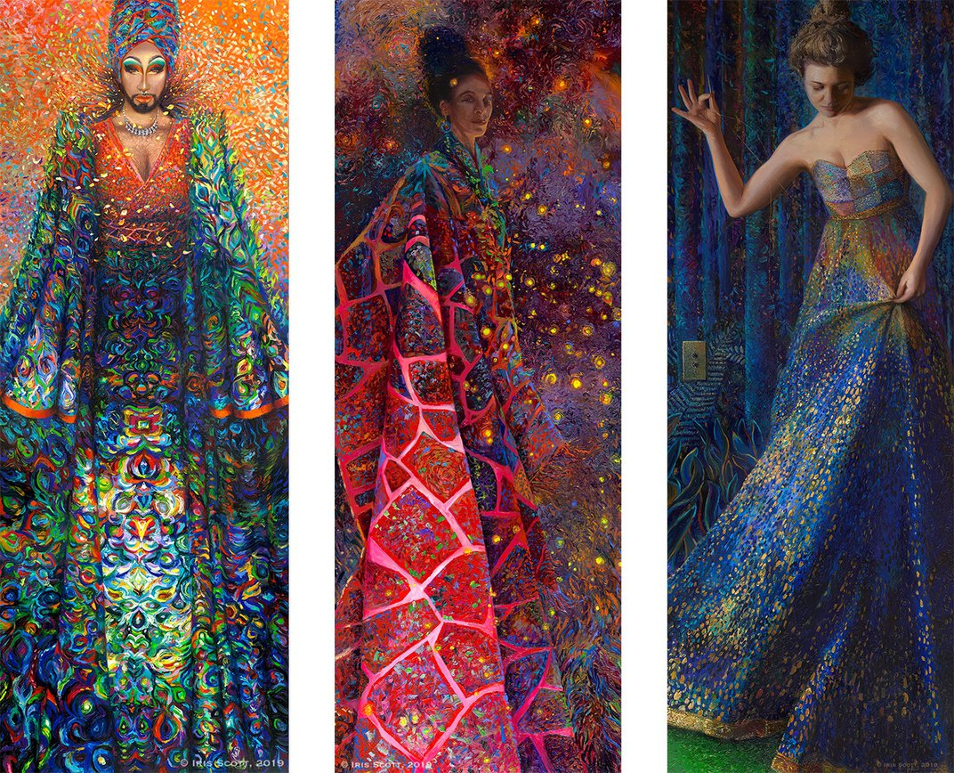 Iris Scott, the World's First Professional Finger-Painter, Launches NYC Show