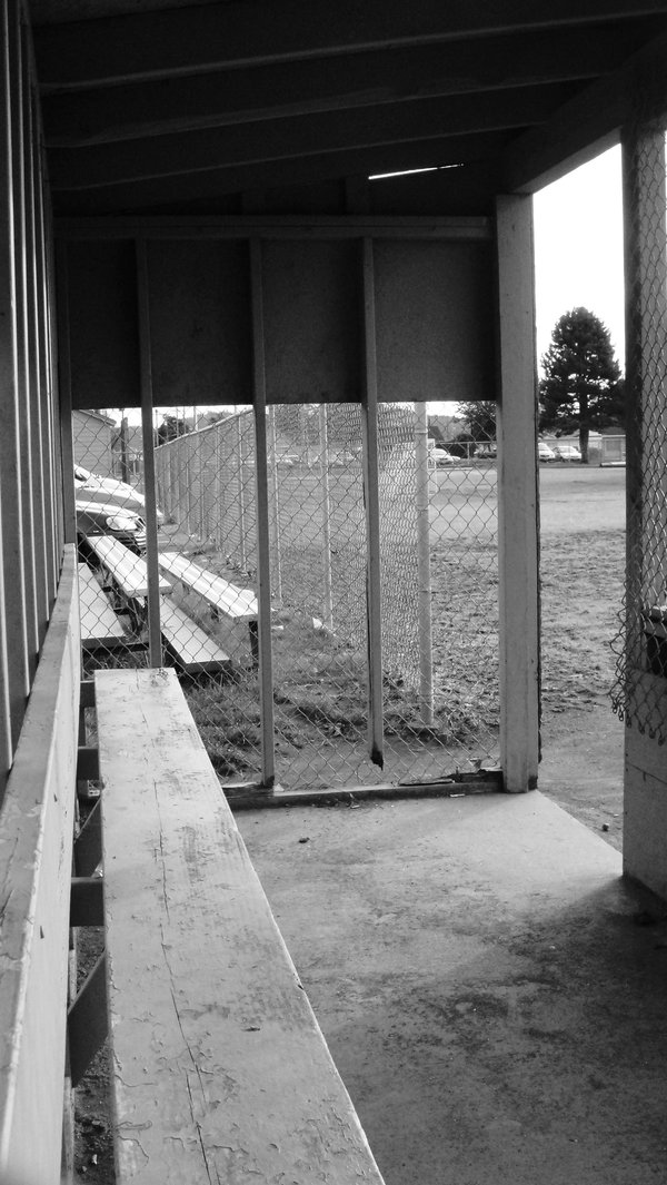 The dugout in a city park. thumbnail