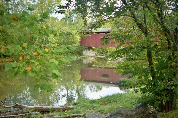 Covered Bridge at Cataract Falls thumbnail