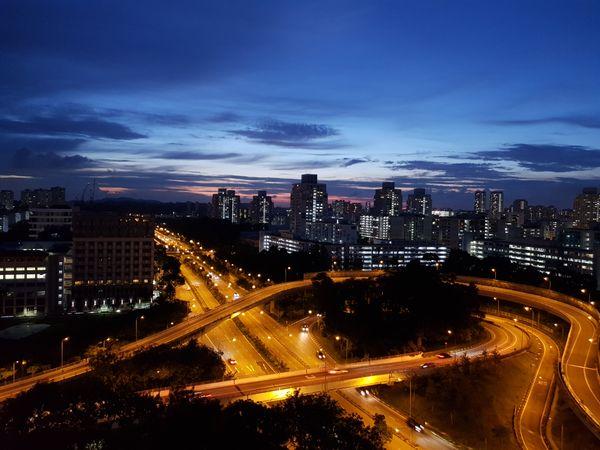 View at dusk at Toa Payoh thumbnail