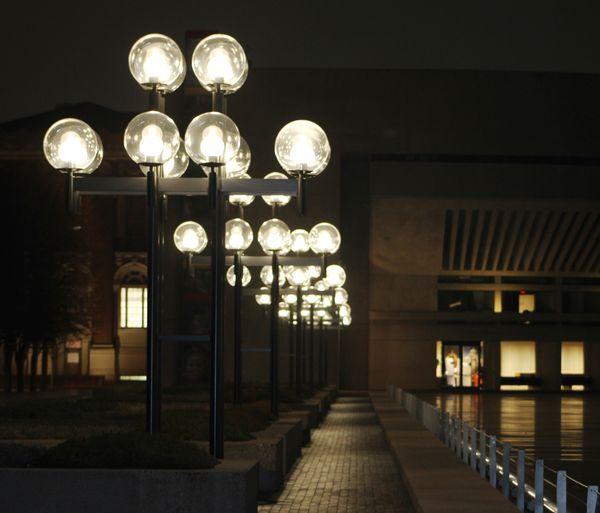 Lights on a walkway in Boston MA. thumbnail