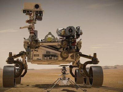 The Mars 2020 Perseverance rover and the Ingenuity Helicopter.