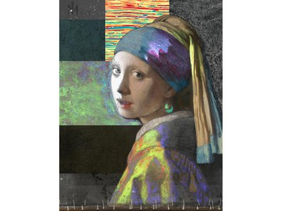 A composite image combines ten new scans of Johannes Vermeer's Girl With a Pearl Earring.