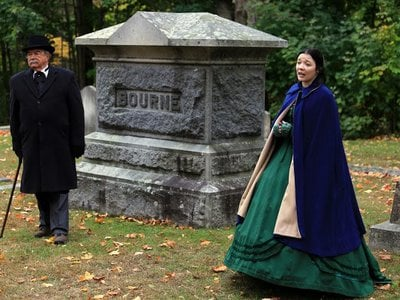 """The Brick Store Museum in Kennebunk, Maine, hosts an """"All Souls Walk"""" at the town's Hope Cemetery."""