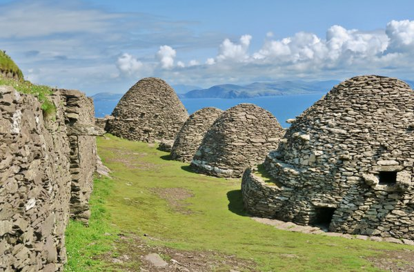 Beehive monk's huts on Skellig Michael, Republic of Ireland  thumbnail