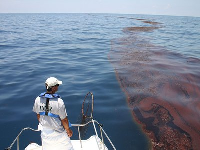 Oil floats on the surface of Gulf waters in June 2010. Is it still there today?