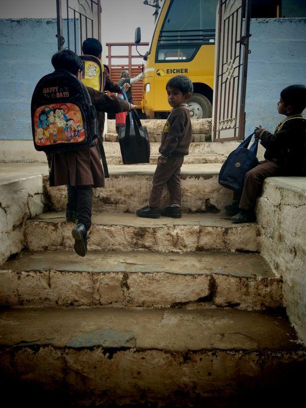 children outside the school thumbnail