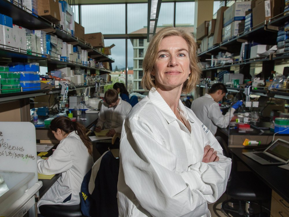 Jennifer Doudna in her lab