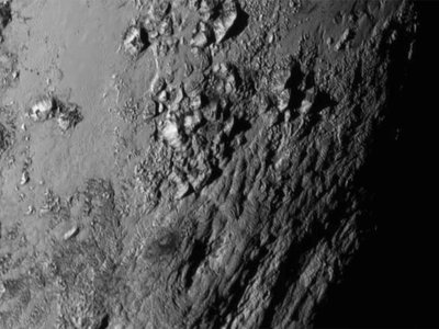 Turns out Pluto is covered in ice mountains up to 11,000 feet high.