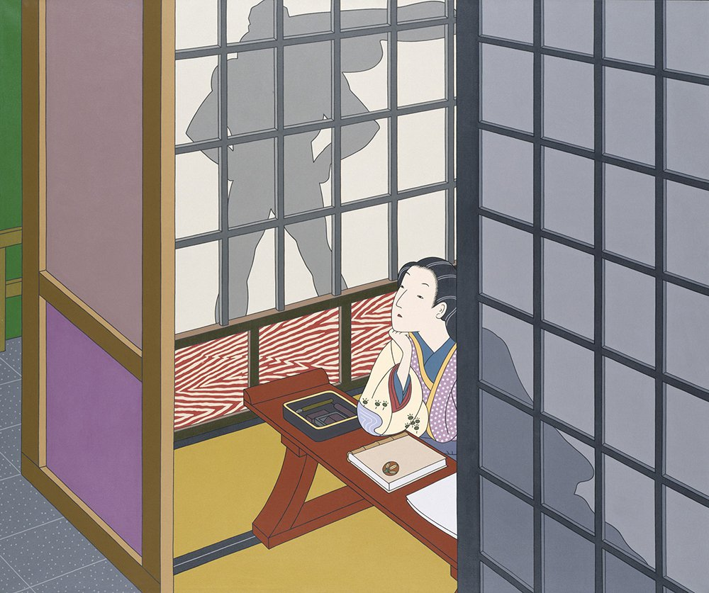 """Image of """"Diary: December 12, 1941"""" painting by Roger Shimomura, from the Smithsonian American Art Museum"""