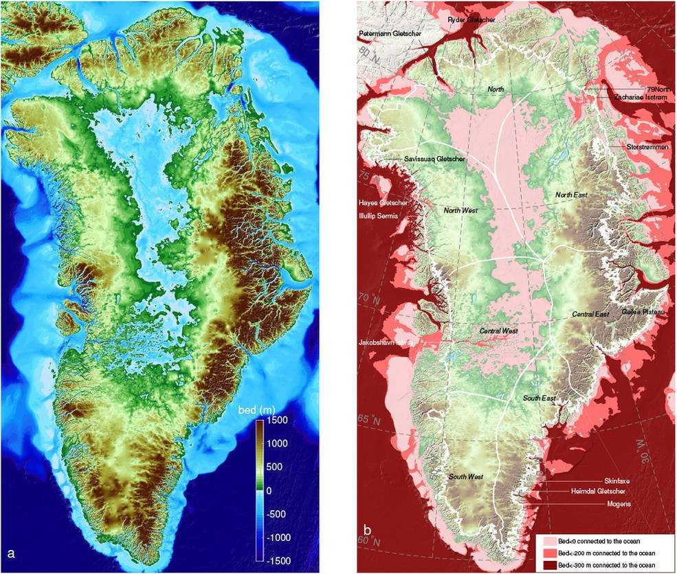 New Map Reveals What Lies Below Greenland's Ice