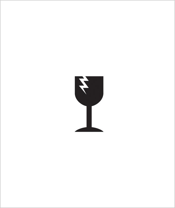 Matt Mullican's symbol for Fragile