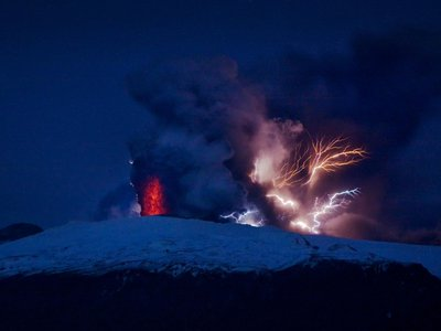 The volcanic plume responsible for the 2010 eruption of the Eyjafjallajokull Volcano in Iceland has also brought up bits of Earth's ancient mantle from deep inside the planet.