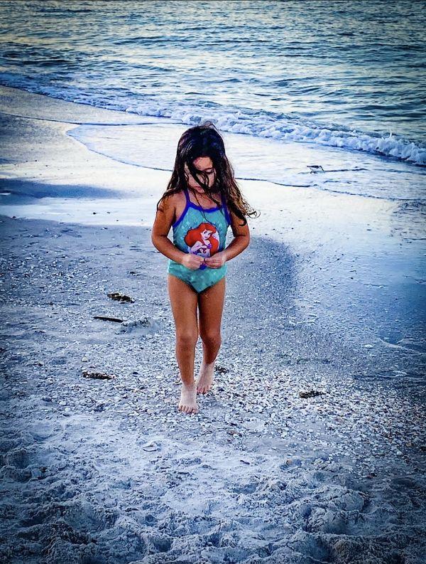 Granddaughter at the beach thumbnail