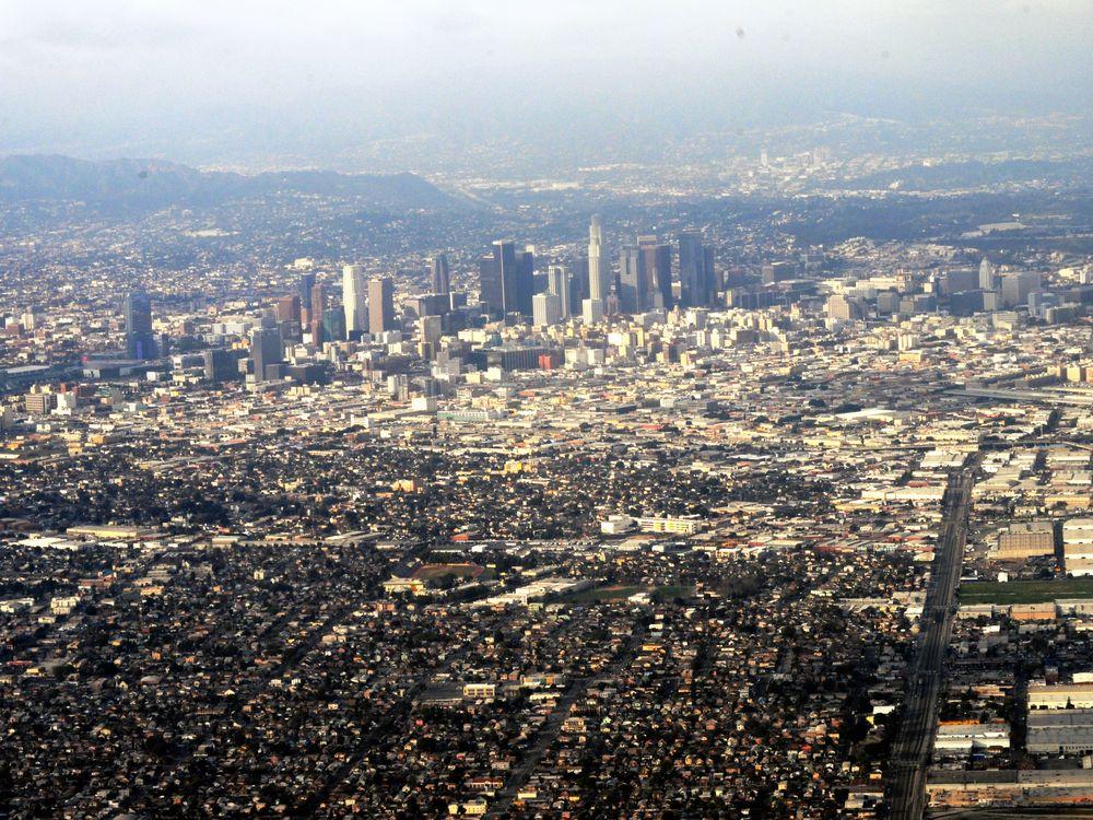 Aerial shot of Los Angeles