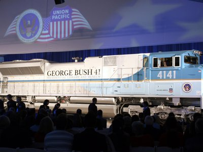 The train carrying President George H. W. Bush, following in the tradition of Lincoln, Garfield and Eisenhower, will travel along a published 70-mile route so that mourners can gather along the way to witness the journey.