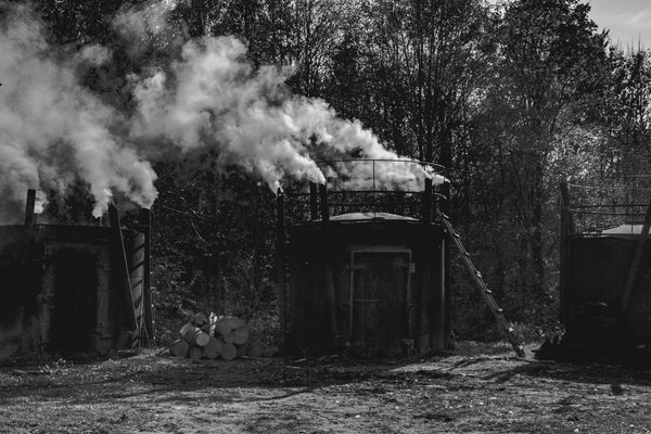 charcoal firing in the Bieszczady Mountains thumbnail
