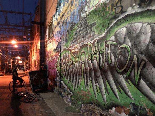 Night mobbing it in Art Alley. Rapid City, South Dakota thumbnail