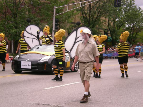 Save the Bees float at the Pride Parade in St. Louis Missouri thumbnail