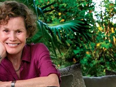 Author Judy Blume recently received the John P. McGovern Award from the Smithsonian Associates for her contributions to the American family.