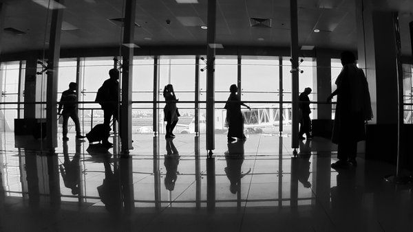 At an airport terminal. Samsung M20,  f/2.2, ISO-40, s-1/276s, f-2.2mm thumbnail