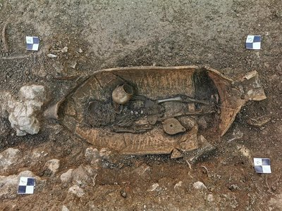 An individual buried in an amphora on the Croatian island of Hvar