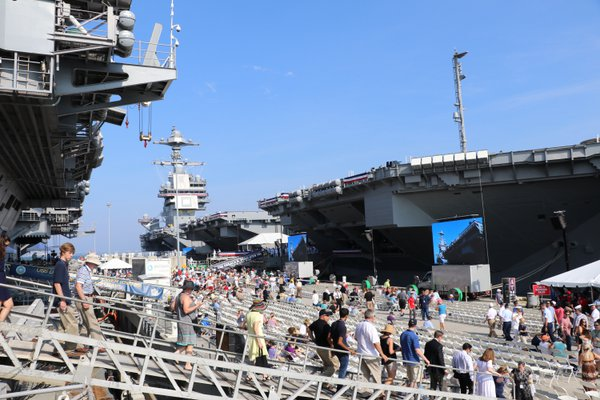 Hot Summer Day @ USS Gerald R. Ford Commissioning thumbnail