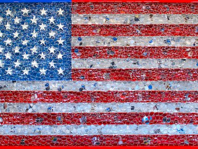 """David Datuna's """"Portrait of America"""" is the first artwork in the world to use Google Glass technology."""