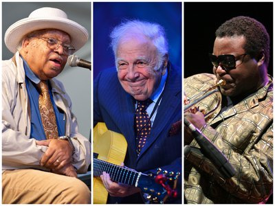 From L to R: Ellis Marsalis Jr., Bucky Pizzarelli and Wallace Roney