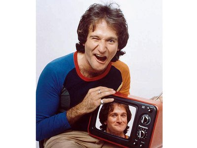 The National Portrait Gallery is installing Michael Dressler's Time magazine cover photo of Robin Williams following his untimely death.