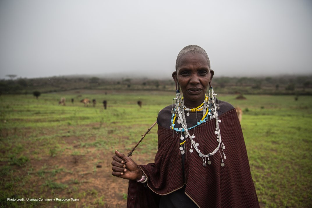 a woman in traditional dress