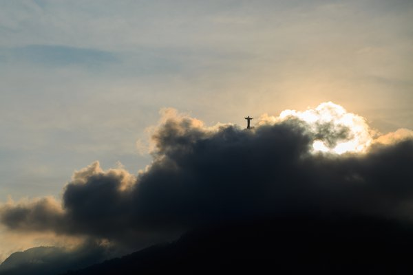 Christ the Redeemer in the clouds thumbnail