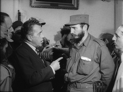 Ed Sullivan interviews Fidel Castro in January 1959, shortly after dictator Fulgencio Batista had fled the country.
