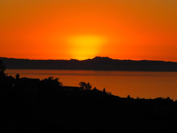 Sunset behind Catalina Island. thumbnail