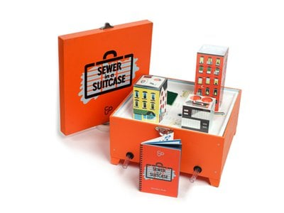 Sewer in a Suitcase: This handy kit shows people where water goes after it goes down the drain.
