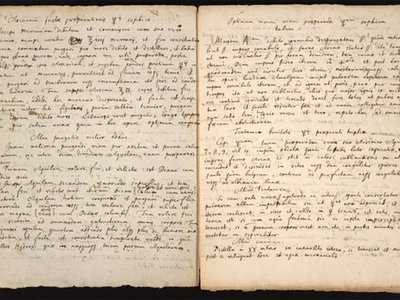 A recipe for an ingredient to make a Philosopher's Stone handwritten by Isaac Newton.