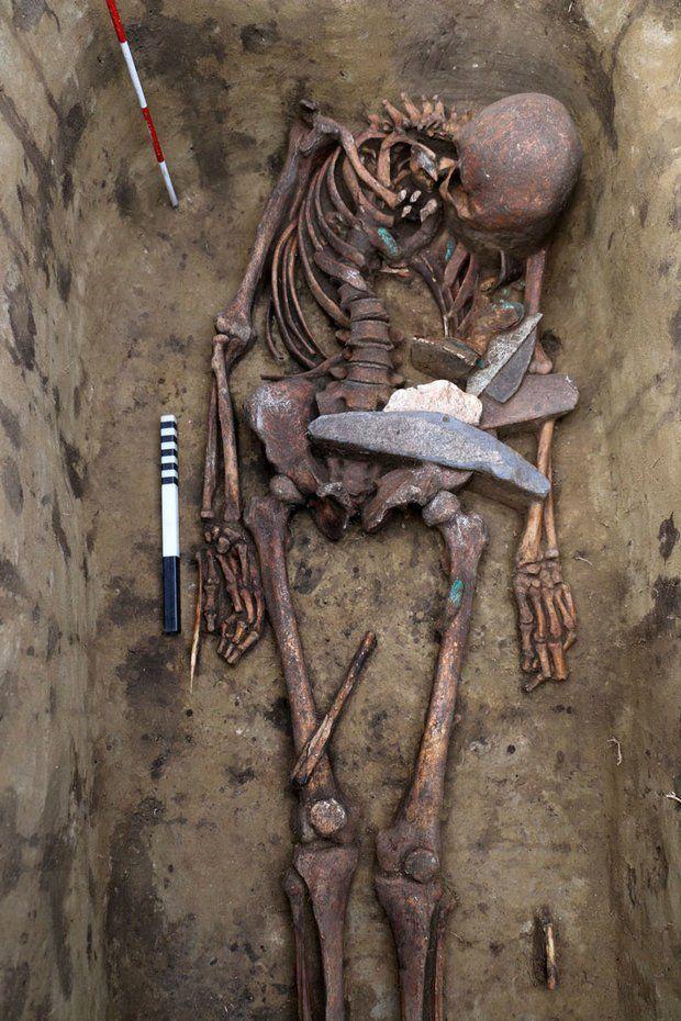 Bronze Age 'Birdman' Had a Headdress Made of Dozens of Bird Beaks, Skulls