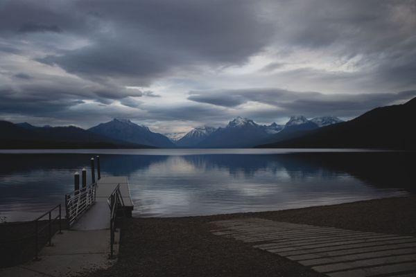 Mountains by Lake McDonald thumbnail