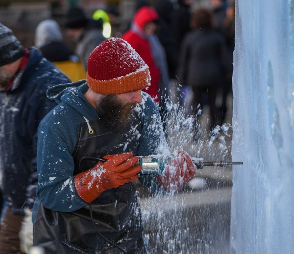 Ice Carvings, During Fire and Ice festival  thumbnail
