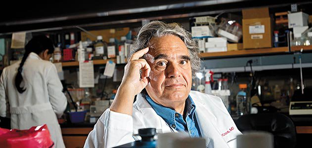 Dr Carlo Croce in his lab