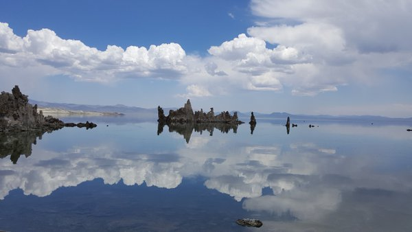 Tufa towers reflected in Mono Lake thumbnail